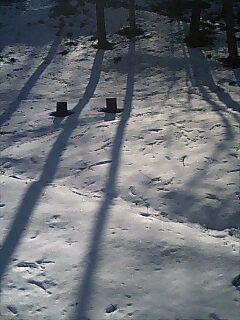 軽井沢雪景色